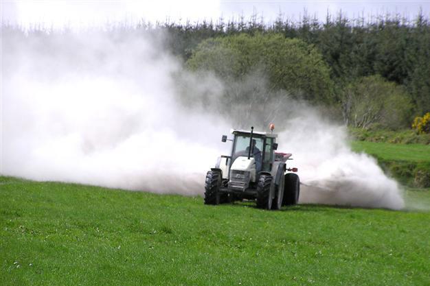 Cal en el uso de los cultivos agrícolas